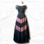 1950's Silk and Lace Black Ball Gown