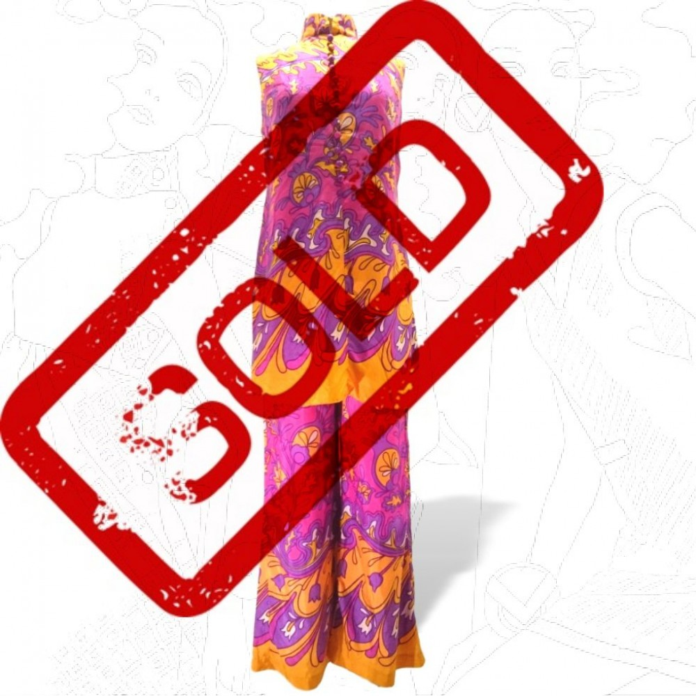 1960's Psychedelic Trouser Suit .
