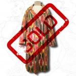 1960's Uzbek Psychedelic Ikat Coat .