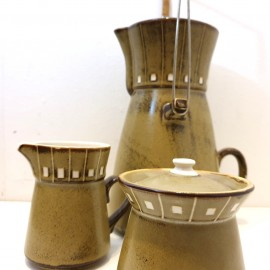 Japanese Kasuga Shoja Moonglow Coffee Set .