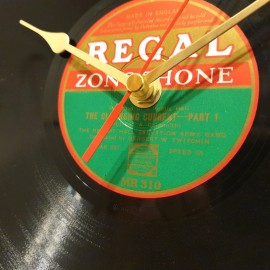 1950's Shellac Record Clock .