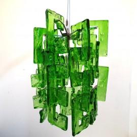 Retro Green Glass Pendant Light .