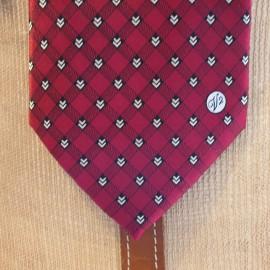 Versace Vintage Red Silk Tie