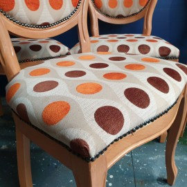 Retro Print Dining Chairs
