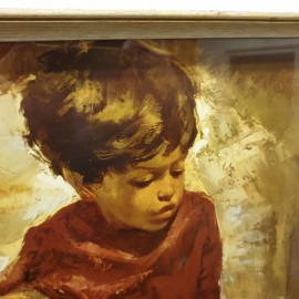 Retro Van Cleef Small Boy Framed Print .
