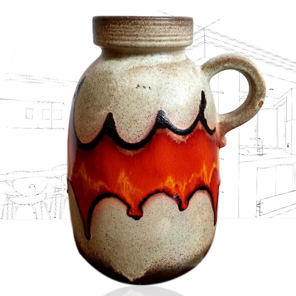 West German Orange Jug Vase 420-32 .