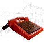 1980's Red Audioline 310 Phone