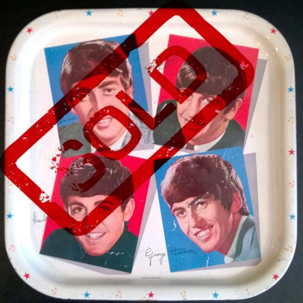 Beatles Original 1964 Tray .