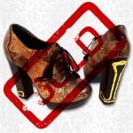 Biba Snakeskin 70's Style Shoes