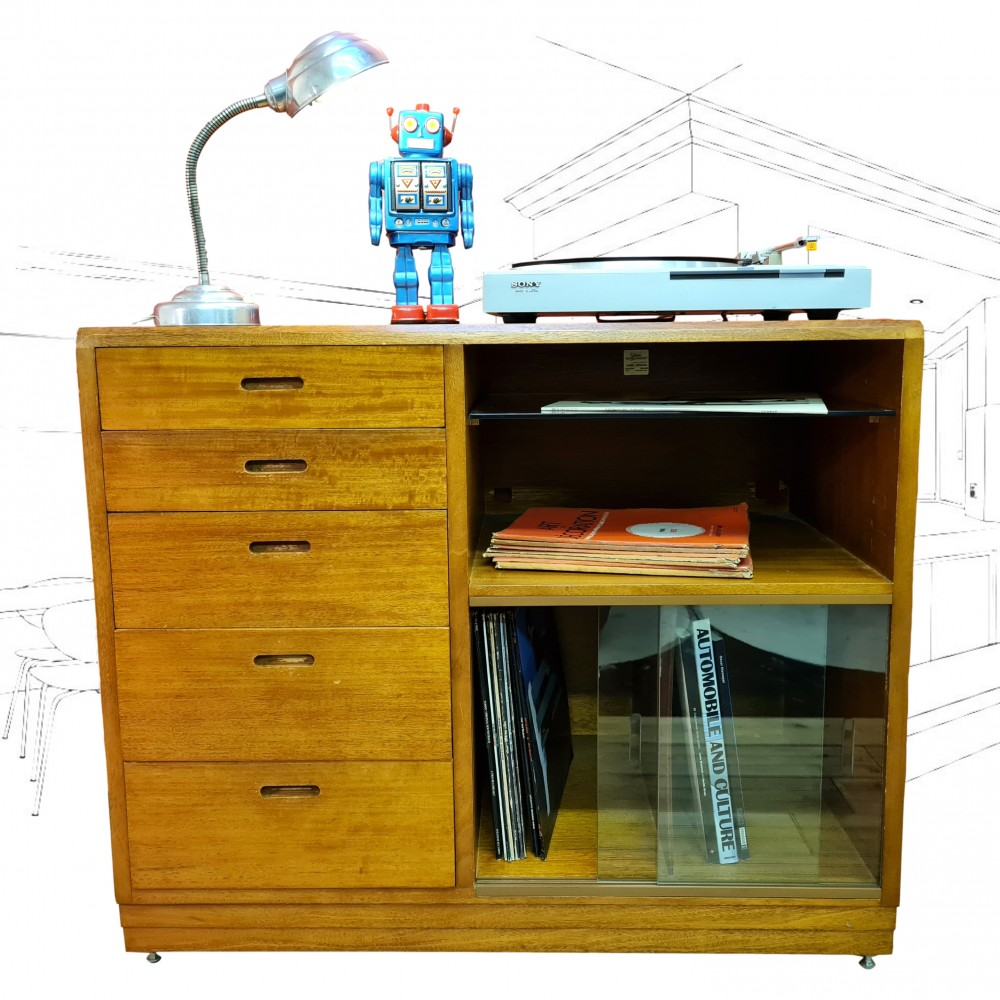 1960's Simplex Media Unit Bookcase