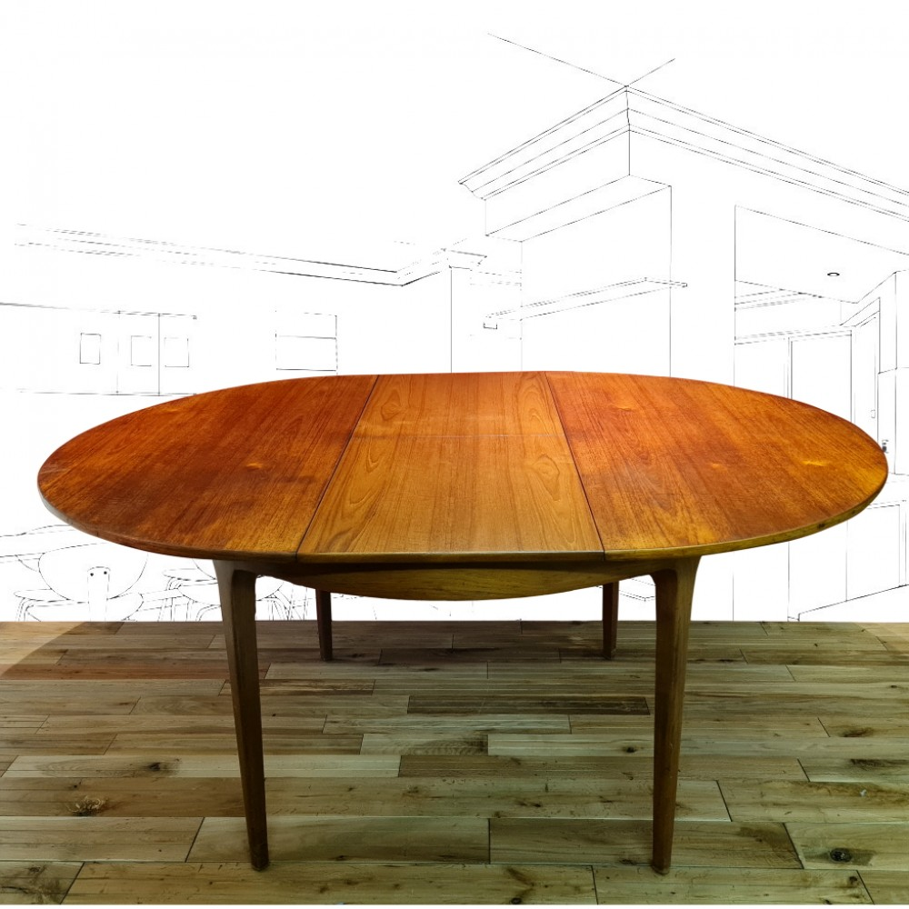 1960's Sform Teak Extending Dining Table