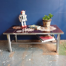 1960's Steel and Tile Coffee Table