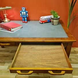 Large Vintage Oak Writing Desk