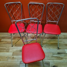1960's Set of Steel Kitchen Chairs
