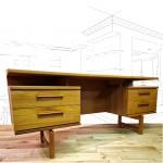 Austinsuite Vintage Teak Floating Top Desk