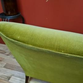 1950's Parker Knoll Green Velvet Sofa