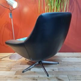 1960's Vintage Vinyl Swivel Chair