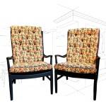 Batik Parker Knoll Chairs .