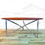 Aluminium & Smoked Glass Coffee Table