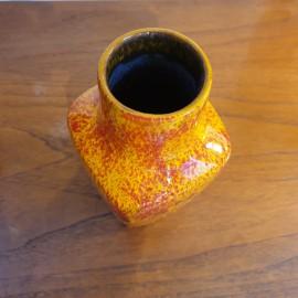 '1960's Walter Gerdhards Orange Lava Vase