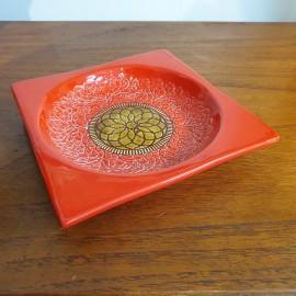 Retro Baldelli Italian Orange Dish