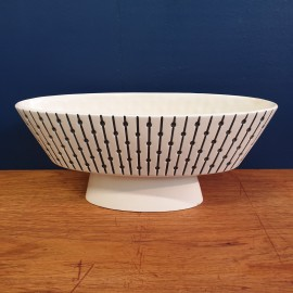 1960s Striped Hornsea Studiocraft Jardinaire