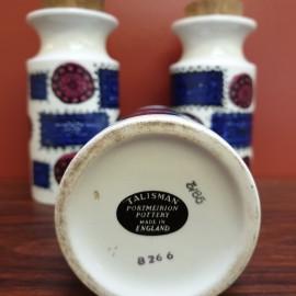 'Talisman' Portmeirion Pottery Storage Jars
