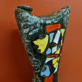 Drioli Italian Ceramic Flask Vase