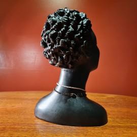 1950's Ceramic  African Head Bust