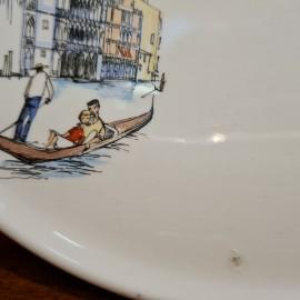 1950's Barker Bros Venice Cake Plate