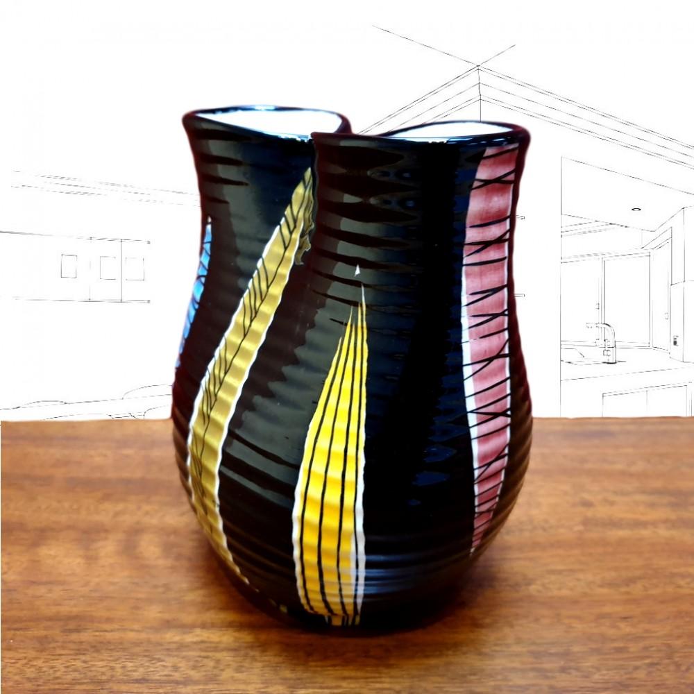 50's Black Vase