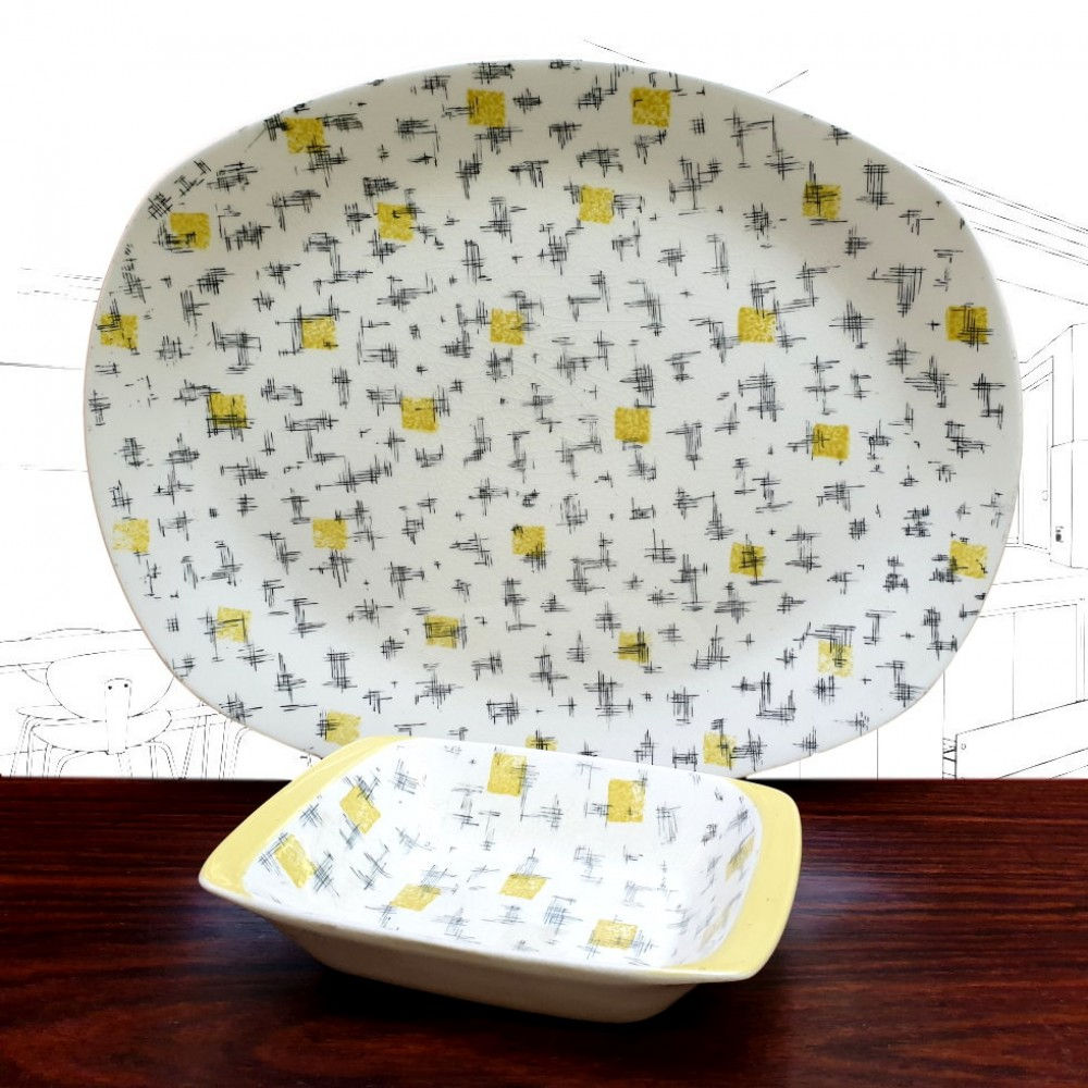 1950's Midwinter Savanna Serving Dishes