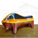 Bitossi for Raymor Striped Bull