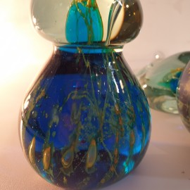 Pair Of Mdina Glass Sea Horses