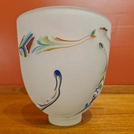 Will Shakspeare White Glass Vase