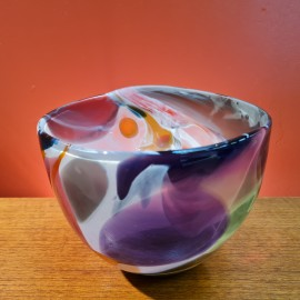 Will Shakspeare Nougat Glass Vase