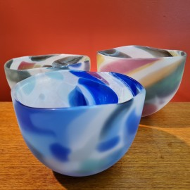 Will Shakspeare Blue 'Nougat' Glass Vase