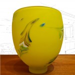 Will Shakspeare Yellow glass vase