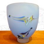 Will Shakspeare Blue Glass Vase