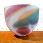 Will Shakspeare Opaque Nougat Glass Vase