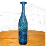 Mdina 'Sea & Sand' Blue Textured Flask