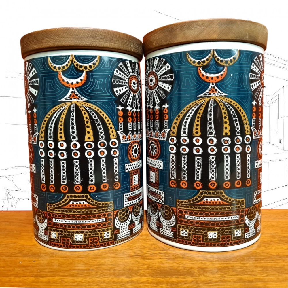 1960's Portmeirion 'Magic City' Large Containers