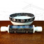 Portmeirion Magic City Rolling Pin and Bowl