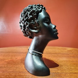 1950's Ceramic  African Head Bust
