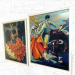 Retro Spanish Framed Tapestries