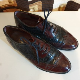 Barker Two Tone Leather Brogues