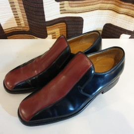 Barker Two Tone Leather Slip-On Shoes