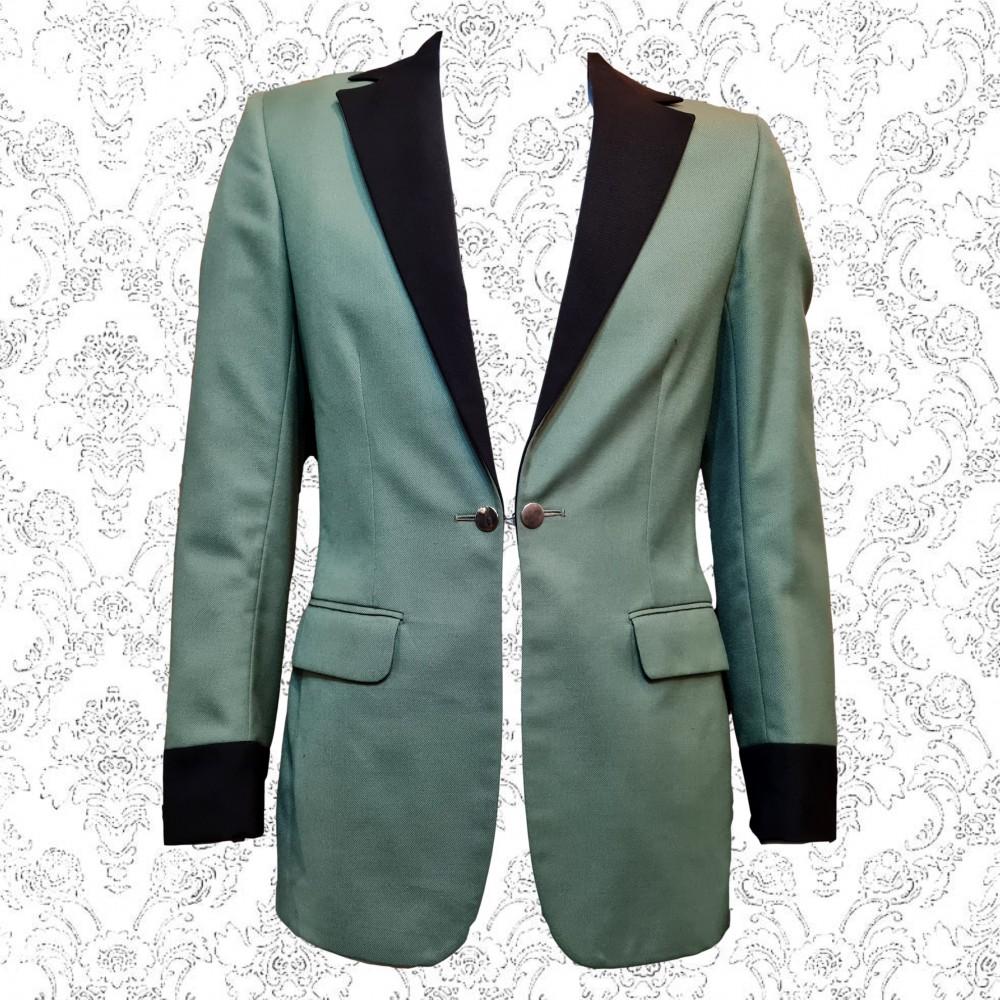 Green Teddy Boy Style Evening Jacket