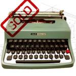 Olivettii Lettera 32 Typewriter .