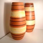 Pair of Scheurich West German Vases 529-38 .